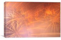 London Fireworks 2017, Canvas Print