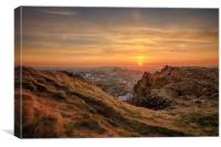 Sunset from the Crags, Edinburgh, Canvas Print