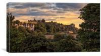 Beautiful Sunset over Edinburgh Castle, Canvas Print
