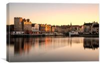 Winter Sunset at the Shore, Leith, Canvas Print