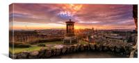 Edinburgh Sunset from Calton Hill, Canvas Print