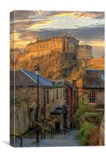Edinburgh Sunset from the Vennel, Canvas Print