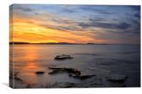 Longniddry at Sunset, Canvas Print