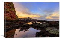 Tantallon Castle Sunset from Seacliffe Beach, Canvas Print