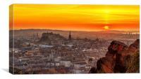 Edinburgh Skyline at Sunset, Canvas Print