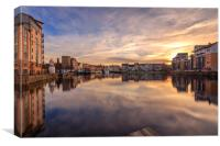 A winters Sunset at the Shore, Leith, Canvas Print