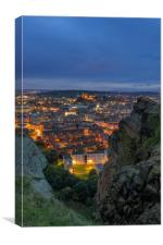 The Edinburgh Skyline at Dusk, Canvas Print