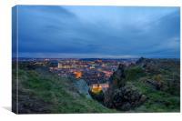 Edinburgh at Dusk, Canvas Print