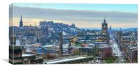 Panoramic View of Edinburgh from Calton Hill, Canvas Print