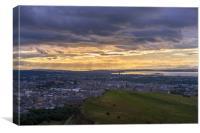 Twilight over the city of Edinburgh, Canvas Print
