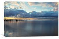 Portobello beach at Dusk, Canvas Print