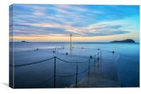 Sunset over the old pier, North Berwick, Canvas Print
