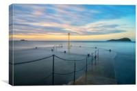 Dusk over the old pier, North Berwick, Canvas Print