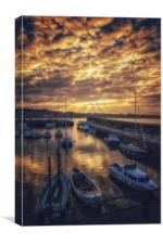 God rays over North Berwick, Canvas Print