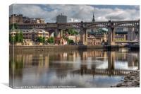 Newcastle Riverside, Canvas Print