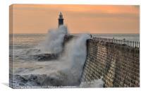 Tynemouth Lighthouse, Canvas Print