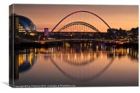 The Tyne Bridges, Canvas Print