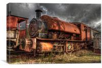 HDR Old Steam Train, Canvas Print