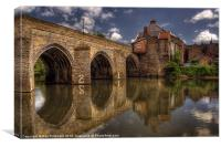 Elvet Bridge, Canvas Print