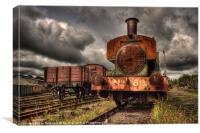 No 6 at Tanfield Railway, Canvas Print