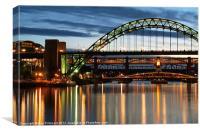 River Tyne, Canvas Print