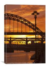 Newcastle at Sunset, Canvas Print