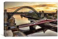 Early Morning in Newcastle, Canvas Print
