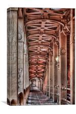 Walk Through The High Level Bridge, Canvas Print