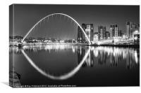 Black & White Millennium Bridge, Canvas Print