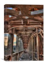 HDR High Level Bridge, Canvas Print