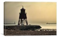 Early Morning at South Shields, Canvas Print