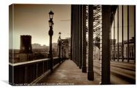 Vintage Tyne Bridge at Newcastle, Canvas Print