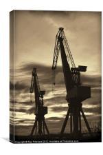 Vintage Cranes, Canvas Print