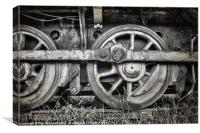 Vintage Train Wheels, Canvas Print