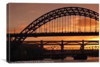 Tyne Bridge At Sunset, Canvas Print