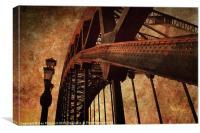 Tyne Bridge Textured, Canvas Print
