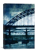 Tyne Bridges, Canvas Print