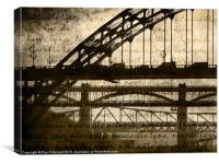 Newcastle Keywords, Canvas Print