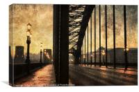 Textured Tyne Bridge, Canvas Print