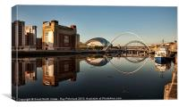 River Tyne Reflected, Canvas Print