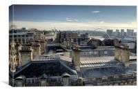 Newcastle Gateshead Skyline, Canvas Print