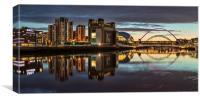 Gateshead Quayside, Canvas Print