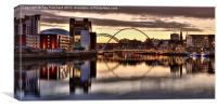 River Tyne Lights, Canvas Print