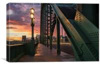 Sunrise Over The Tyne Bridge, Canvas Print