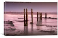 Old Wooden Posts, Canvas Print