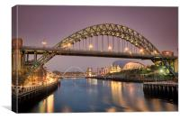 Tyne Bridge over the Tyne, Canvas Print