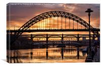 Sunset on the Tyne, Canvas Print