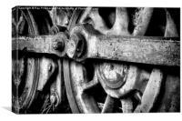 Vintage Steam Train Wheels, Canvas Print