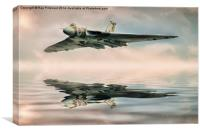 Vulcan Bomber Artwork, Canvas Print