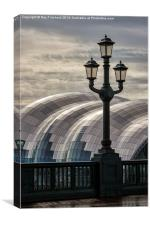 Lamp on the Tyne Bridge, Canvas Print